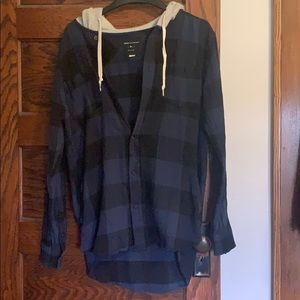 Modern Amusement Hooded Flannel Shirt/Jacket